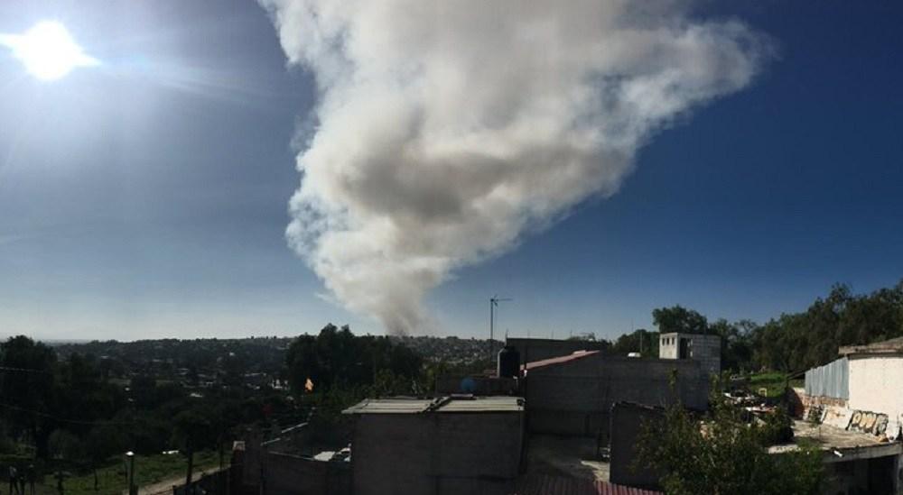 Reportan explosión de polvorín en Tultepec (FOTO)
