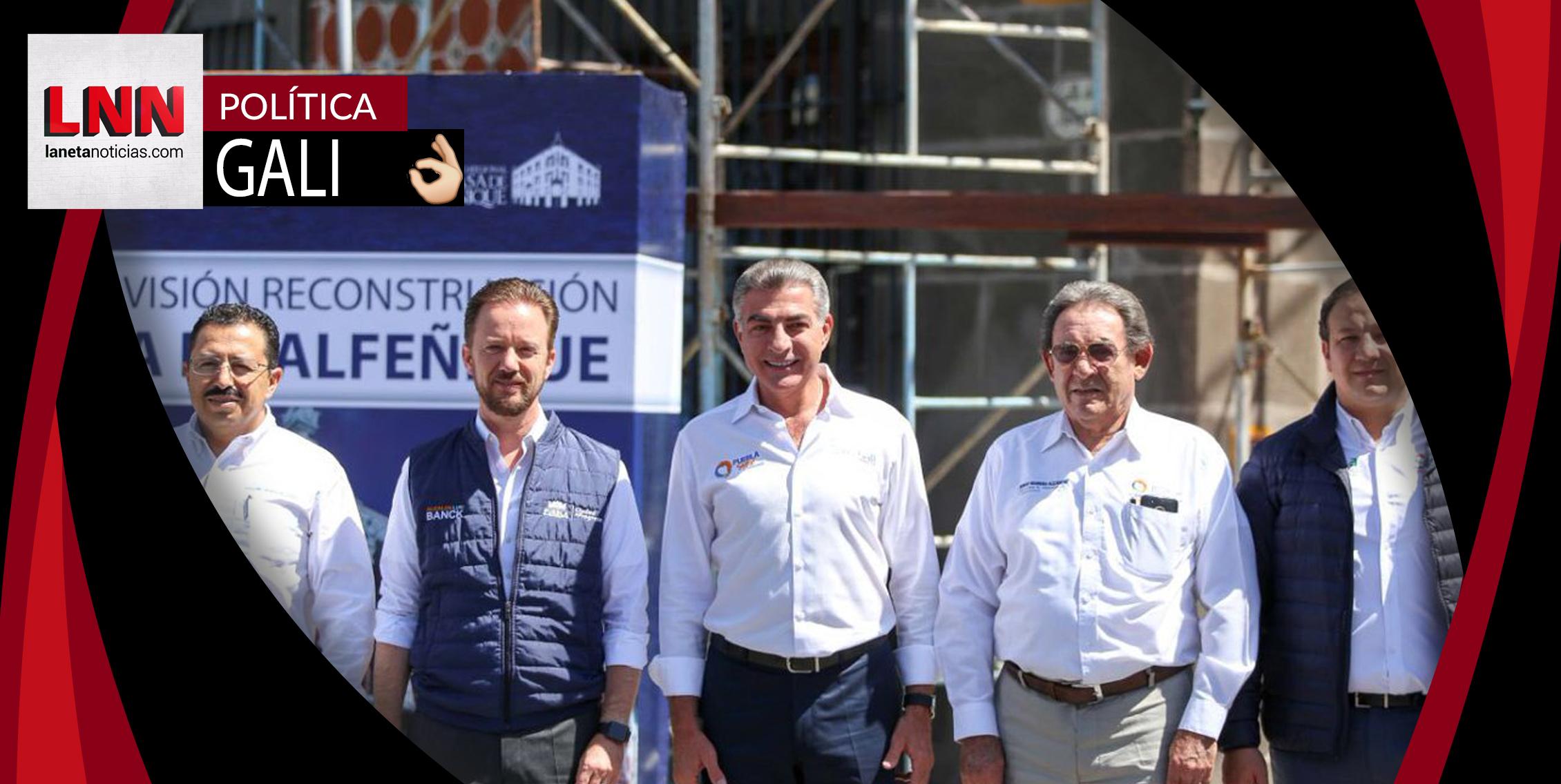 Tony Gali informa sobre avances en reconstrucción de la Casa de Alfeñique