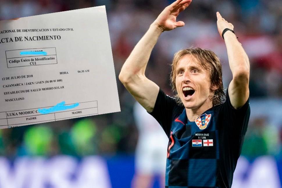 Padre <i>se sube al tren</i> y registra a su hijo con el nombre de Luka Modric