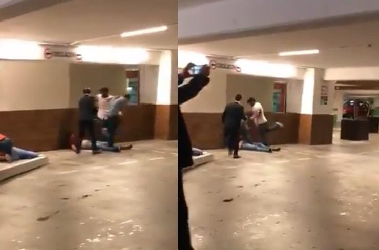 <i>Juniors</i> protagonizan pelea campal en antro de Veracruz (VIDEO)