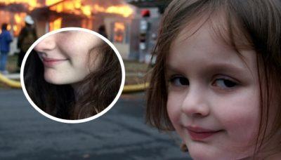 ¿Recuerdas el meme de La niña desastre? Descubre cómo luce su protagonista