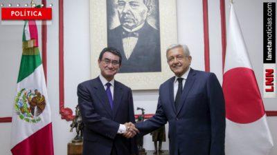 <i>AMLO-San</i>: López Obrador habló de cooperación económica con el canciller de Japón