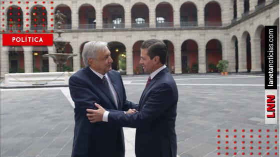 EPN presume fotos de su reunión con AMLO y reitera su disposición para apoyarlo