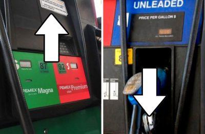 Mientras a mexicanos <i>les ven la cara</i> con la gasolina, en Estados Unidos solo baja