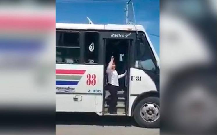 Chofer de transporte público se une al Chona Challenge (VIDEO)
