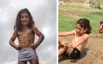 Niño de 5 años entrena hasta las lágrimas para ser como Cristiano Ronaldo (VIDEOS)