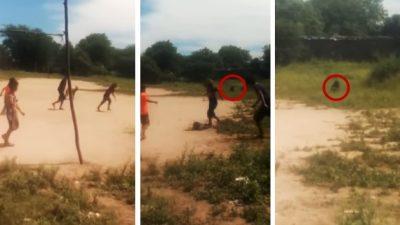 Niños <i>mueren de miedo</i> al captar 'duende' cuando echaban reta (VIDEO)