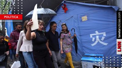 Damnificados del 19S aún viven en carpas donadas por el Gobierno chino