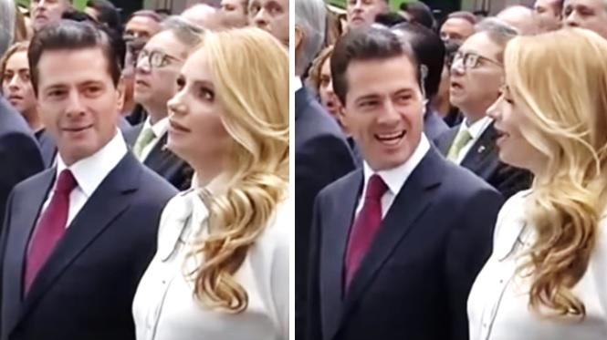 Peña Nieto exhibe a Angélica Rivera por no saberse el himno del Edoméx