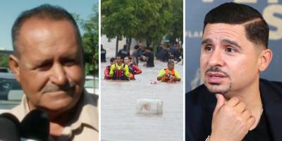 Drama en la vida de Larry Hernández: lluvia tiene atrapado a su papá (FOTO)