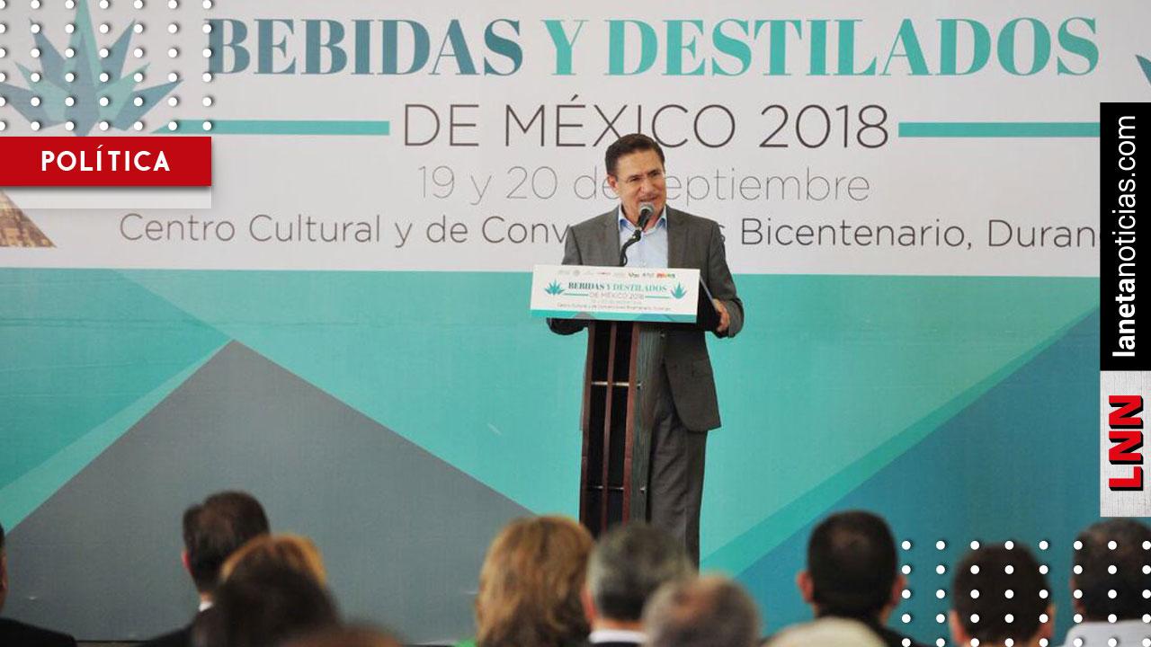 Durango, sede del Foro Bebidas y Destilados de México 2018: José Rosas Aispuro