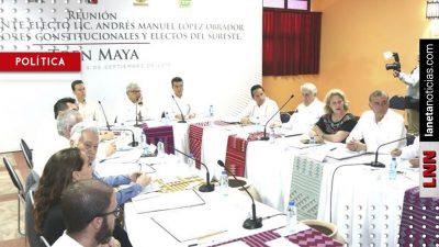 AMLO sostiene reunión sobre Tren Maya con gobernadores del sureste del país