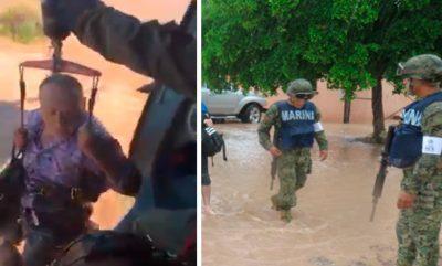 Mira el video del heroico rescate de 18 personas bajo la lluvia en Sonora