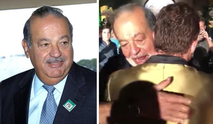 Radical cambio de look de Carlos Slim impacta en festejo de Canelo Álvarez