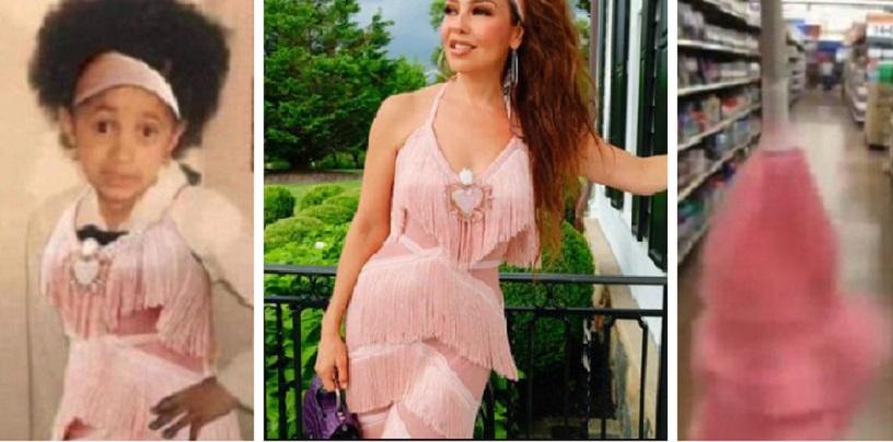 Revelan precio de la exótica falda que usó Thalía en su cumpleaños