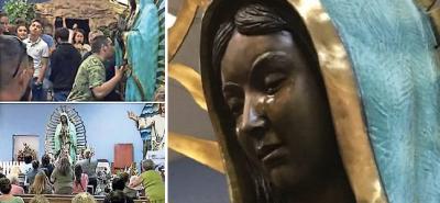 Virgen de Guadalupe llora y provoca conmoción entre fieles (VIDEO)