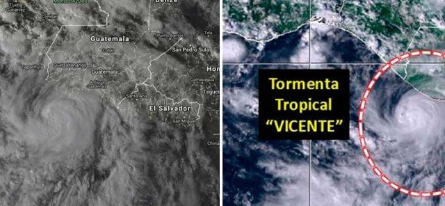 Tormenta tropical se forma en Chiapas y alerta a la población (FOTO)