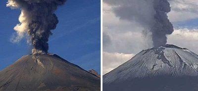¡Don Goyo ruge! Reportan kilométrica fumarola del Popocatépetl (VIDEO)