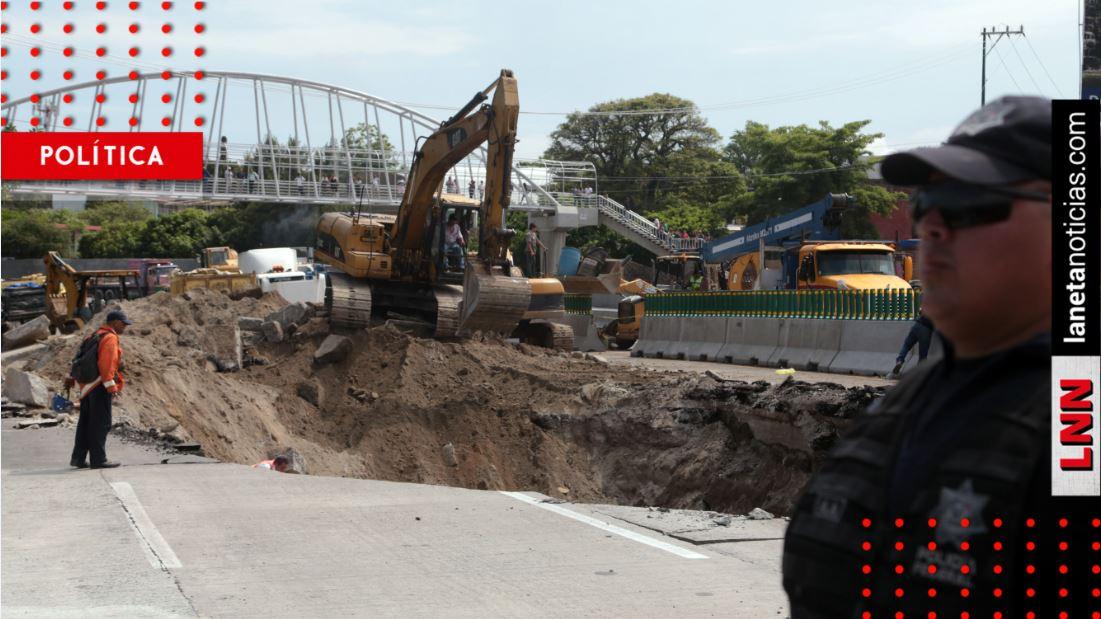 SCT es culpable del socavón en Paso Exprés, determina CNDH