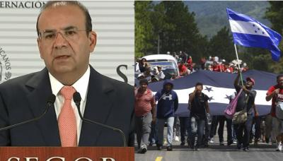 Navarrete se queja: 'migrantes incumplieron e hirieron a policías'