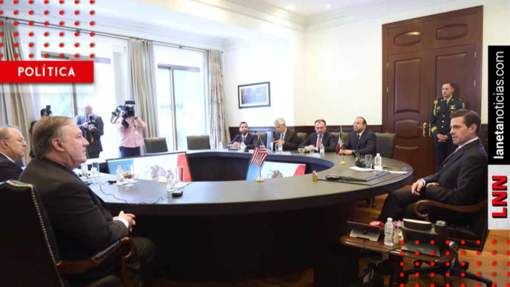 Tras reunión con Pompeo, Peña advierte: no se tolerará ingreso migrante violento
