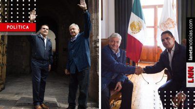 Michoacán lo quiere y lo quiere bien: las palabras de Silvano Aureoles a AMLO