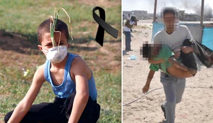 Niño que inventó máscara de cebolla para protegerse del gas israelí habría sido asesinado