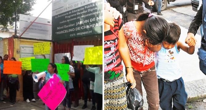 Madres enfurecidas acusan violación de al menos 37 niños en kínder de CDMX
