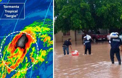 Activan alerta en Baja California Sur por tormenta Sergio
