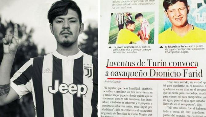Dionicio Rodríguez, el oaxaqueño que inventó ser jugador de la Juventus