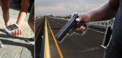 Deja caer su celular tras asaltar en la México-Puebla y lo exhiben en redes