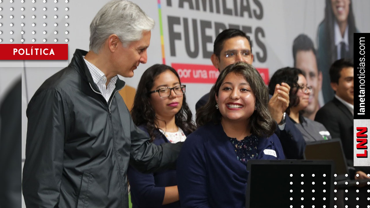 Entrega Alfredo del Mazo becas al extranjero a estudiantes mexiquenses