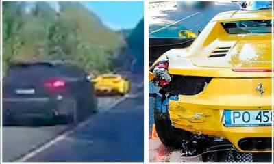 <i>Rápidos y furiosos</i>: carrera entre Ferrari y Porsche termina en desastre (VIDEO)