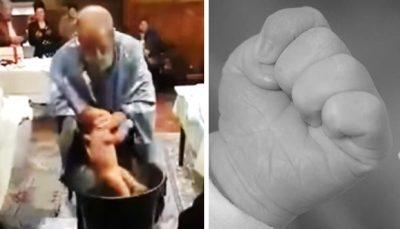 <i>Otro angelito en el cielo</i>: bebé muere ahogado en su bautizo(VIDEO)