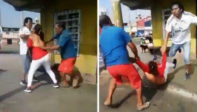 Desnuda y arrastra a su pareja por la calle tras descubrirla con amante (VIDEO)
