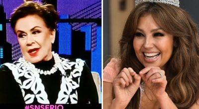 Laura Zapata expone su desprecio por Thalía durante programa en vivo