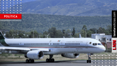 <i>¡Vuela, vuela!</i> Avión presidencial se va de México este lunes