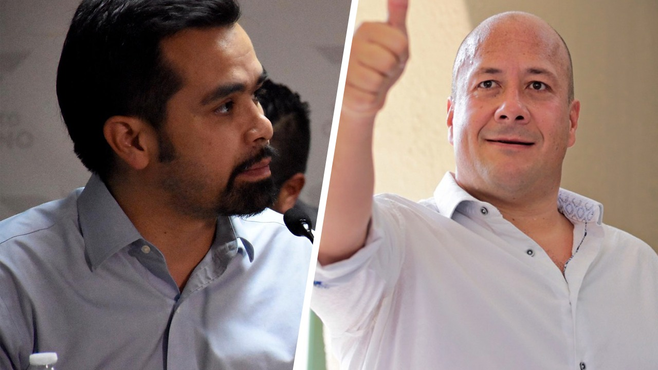 Enrique Alfaro felicita a Jorge Álvarez Máynez, nuevo secretario de MC