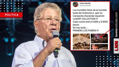 Carlos Alazraki inventa lujosa boda del hijo de AMLO; sacó las fotos de Pinterest. Noticias en tiempo real