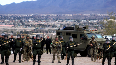 Por migrantes, soldados gringos se quedan en la frontera ¡hasta fin de enero!