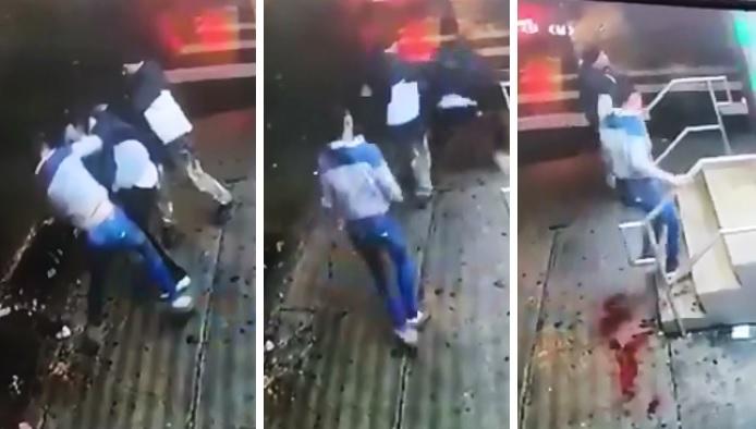 Estremece grabación de mujer desangrándose tras ser baleada en la espalda