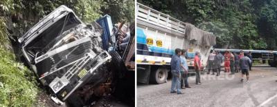 Brutal accidente entre vehículos de carga deja un muerto y una viuda embarazada