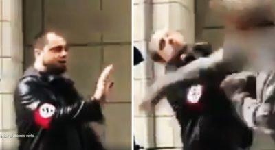 Afroamericano golpea brutalmente a neonazi que lo acosaba en la calle. Noticias en tiempo real