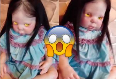 Muñeca 'poseída por el diablo' aterra a todos con su escalofriante mirada (VIDEO)