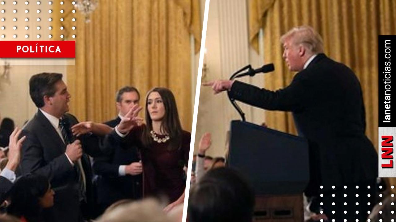 Trump se lanza contra reportero en plena rueda de prensa; retira acreditación