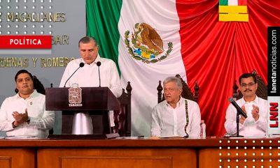 Adán Augusto rinde protesta como gobernador de Tabasco el último día de 2018. Noticias en tiempo real