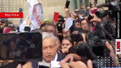 Apachurran a AMLO al salir de la SCJN (VIDEO)