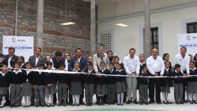 Tony Gali inaugura escuela Héroes de la Reforma, reconstruida tras sismo del 19S