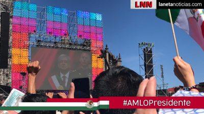Así festejaron los mexicanos desde el Zócalo de la CDMX el discurso de AMLO