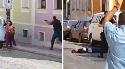 Ejecutan en plena calle a ratero que tomó de rehén a una anciana (VIDEO)